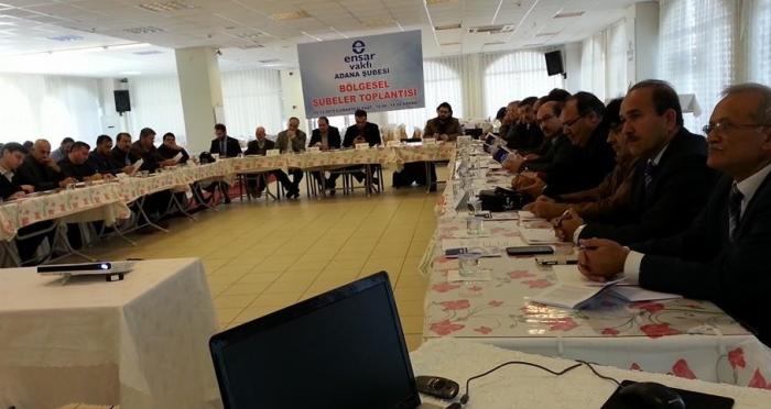 Ensar Vakfı Adana Bölge Toplantısı 7 Şubenin katılımıyla gerçekleşti