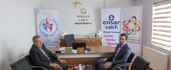 Bingöl İl Sağlık Müdürü Dr. Abdullah Demir vakfımızı ziyaret etti.