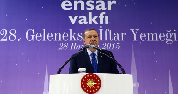 Cumhurbaşkanı Recep Tayyip Erdoğan, Ensar Vakfı'nın 28.Geleneksel İftar Programına katıldı