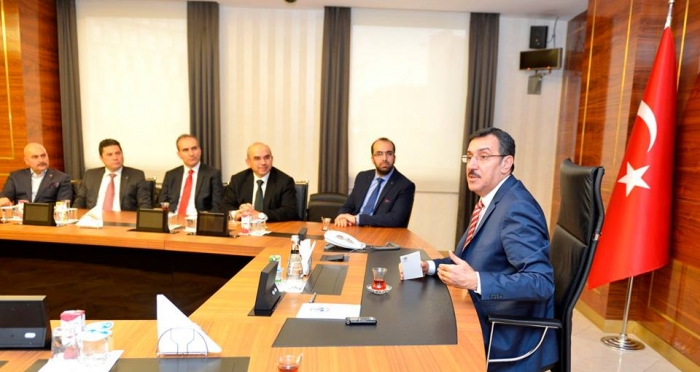 Ensar Vakfı, Gümrük ve Ticaret Bakanı Bülent Tüfenkci'yi ziyaret etti