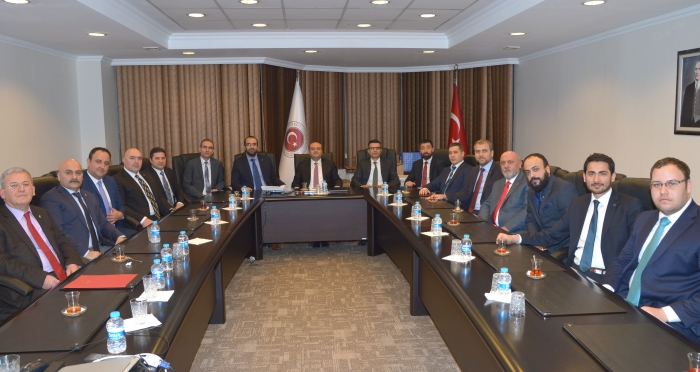 Ensar Vakfı Ankara Şubesi, Ekonomi Bakanı Mustafa Elitaş'ı ziyaret etti