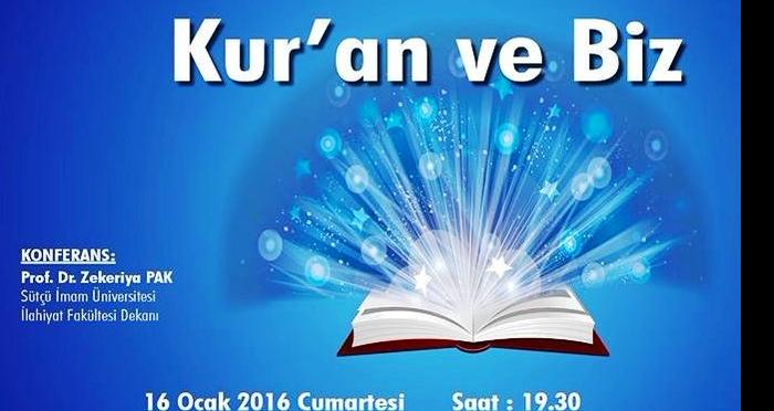 Osmaniyede Kuranı Kerim konferansına davetlisiniz
