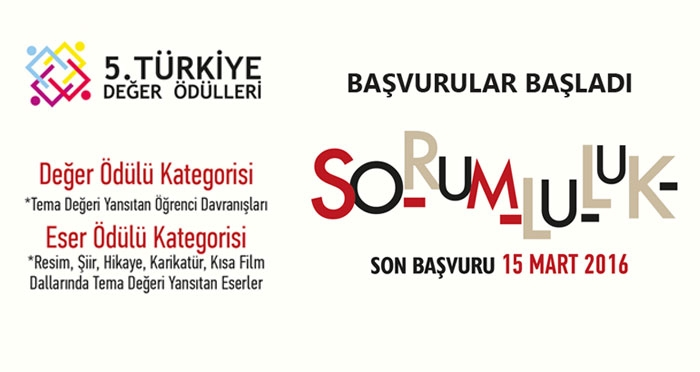 5. Türkiye Değer Ödülleri Başvuruları Başladı