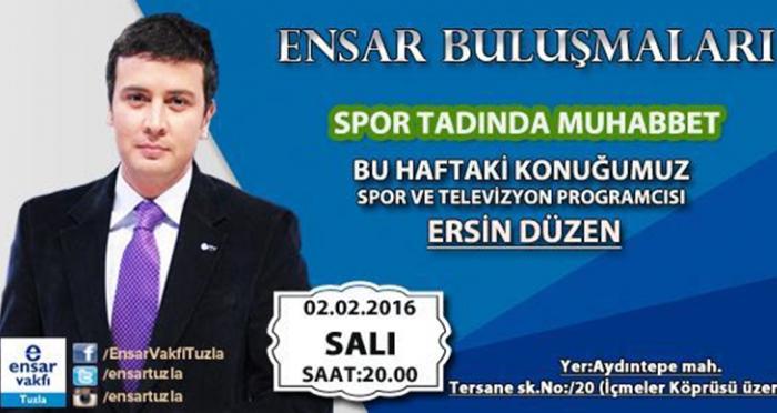 Tuzla'da Ersin Düzen ile spor tadında muhabbet