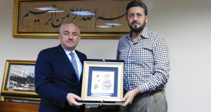 Diyanet İşleri Yönetim Hizmetleri Başkanı İsmail Palakoğlu vakfımızı ziyaret etti