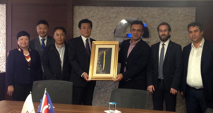 Çin Halkı Yabancı Ülkeler ile Dostluk Derneği'nden Ensar Vakfı ziyareti