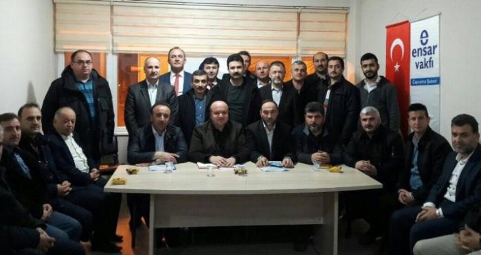 Ensar Vakfı Çaycuma Şubesi'nde Hak ve Adalet Platformu Suriye için toplandı