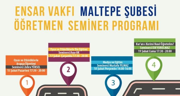 Ensar Vakfı Maltepe Şubesi'nde Şubat ayı Öğretmen Seminerleri başlıyor