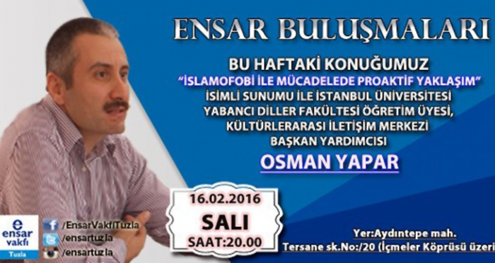 Tuzla'da İslamofobi ile mücadelede proaktif yaklaşım konuşulacak