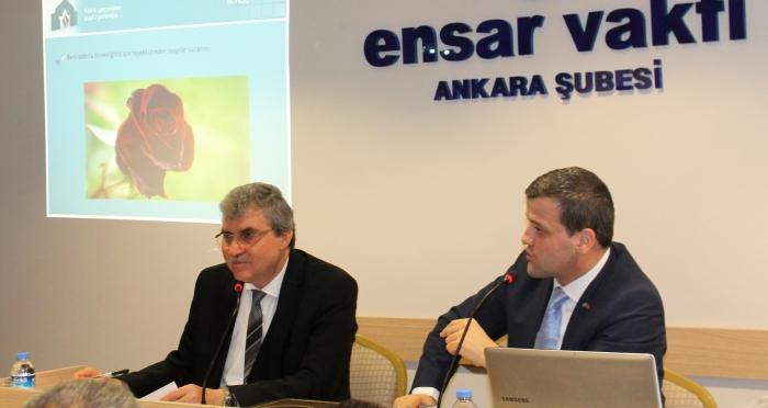 Ahmet Yesevi Üniversitesi Başkanı Prof. Dr. Musa Yıldız Ankara'da Ensar Buluşmaları'nın konuğu oldu