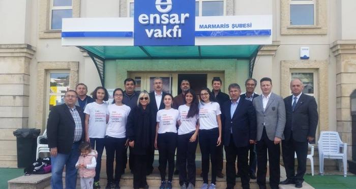'Aileni bir tut, toplumu diri tut' projesine Ak parti Muğla Milletvekili Nihat Öztürk ve Muğla Valisi Amir Çiçek'ten ziyaret