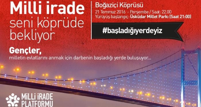 #BaşladığıYerdeyiz : Bayrağını Al, Boğaziçi Köprüsü'ne Gel!