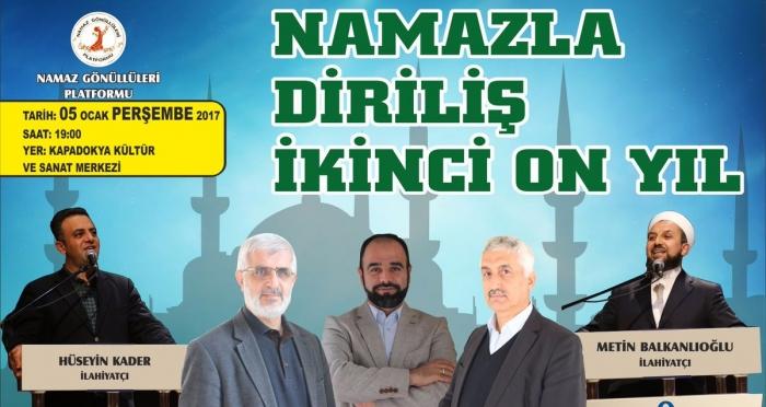 Nevşehir'de Namazla Diriliş'in ikinci 10 yılı başlıyor