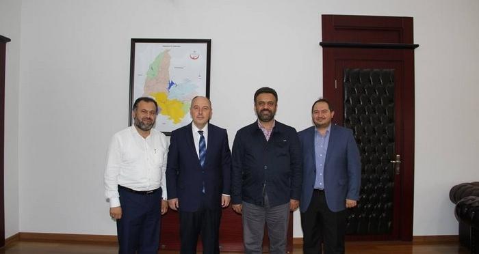 Ensar Vakfı Osmaniye Valisi'ni ziyaret etti.