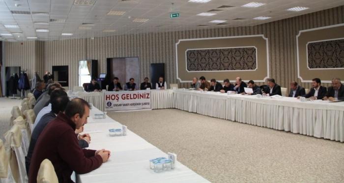 Ensar Vakfı İç Anadolu Şubeleri Bölge toplantısı Kırşehir de yapıldı
