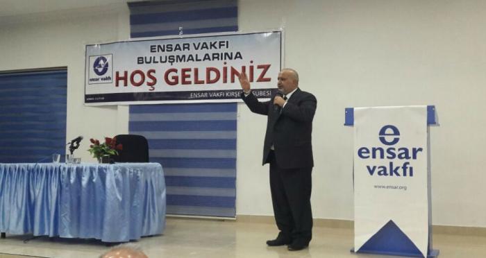 Ensar Vakfı Kırşehir Şubesi'nin programında Şevki Yılmaz: Türkiye taşlarından kurtulacak