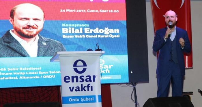 """Ensar Vakfı Ordu Şubesi'nin programında Bilal Erdoğan: """"16 Nisan, Türkiye'nin geleceğinin bağımsızlık anlayışı üzerinde inşa edilmesine karar verileceği bir gün olacaktır"""""""