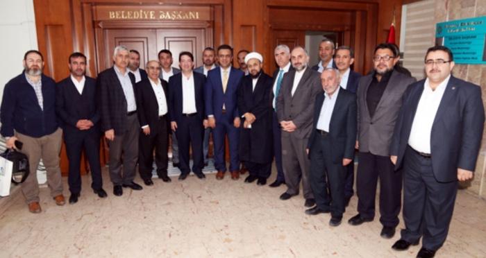 Namazla Diriliş Platformu konuşmacıları Aksaray Belediye Başkanı Yazgı'yı ziyaret ettiler