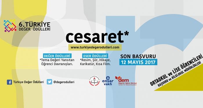 6. Türkiye Değer Ödülleri 'Cesaret' temasıyla başvuruları kabul etmeye başladı!
