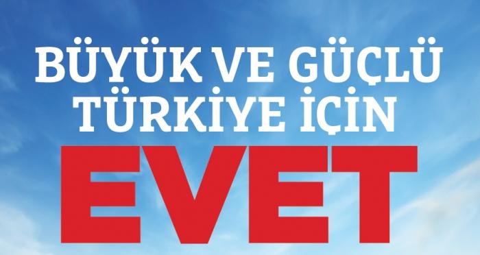 Milli İrade Platformu: 'Büyük ve Güçlü Türkiye için EVET'