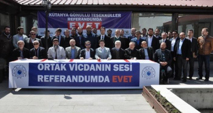 Kütayha STK'ları: 'Ortak Vicdanın Sesi Referandumda Evet'