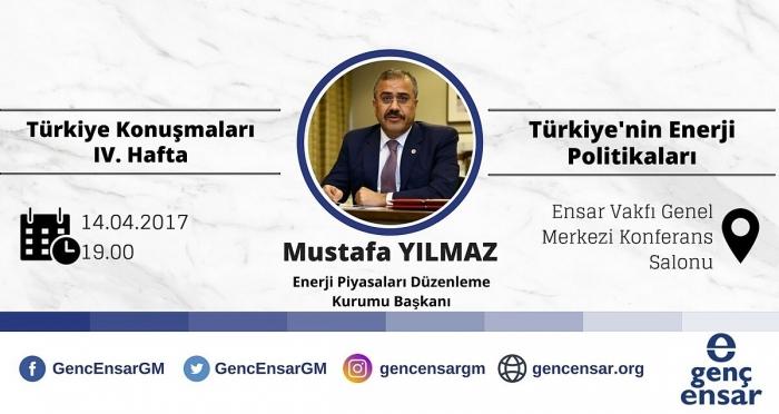 EPDK Başkanı Mustafa Yılmaz, Genç Ensar'ın konuğu olarak üniversiteli gençlerle buluşacak