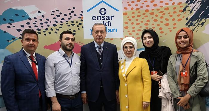 Cumhurbaşkanımız Recep Tayyip Erdoğan İstanbul Gençlik Festivali'nde Ensar Vakfı Standını Ziyaret Etti