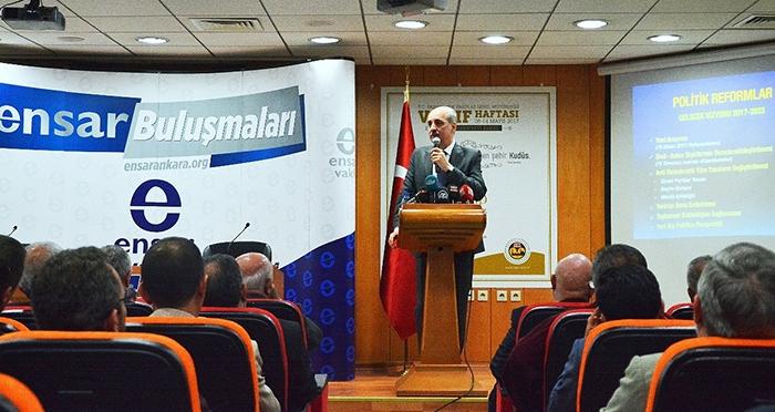 Ensar Buluşmaları'nın bu haftaki konuğu Başbakan Yardımcısı Prof. Dr. Numan KURTULMUŞ oldu