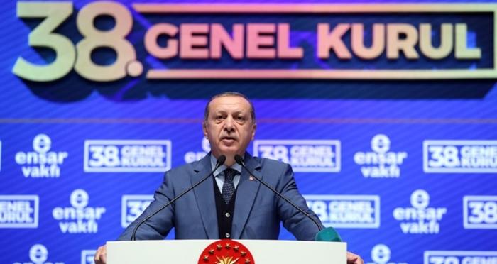 Cumhurbaşkanı Recep Tayyip Erdoğan Ensar Vakfı'nın 38. Genel Kurulu'nda