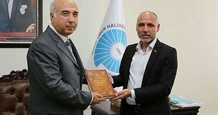 Niğde Ömer Halis Demir Üniversitesi Rektörü'ne Ziyaret