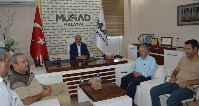 MÜSİAD Malatya Şube Başkanı Hüseyin Kalan'a Ziyaret