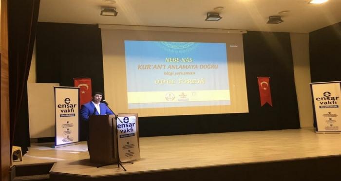 Ensar Vakfı Beylikdüzü Şubesi'nden Nebe Nas Kur'an-ı Anlamaya Doğru Bilgi Yarışması Ödül Töreni