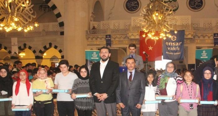 """Ensar Vakfı Ataşehir Şubesi'nden Güzel Ahlak Yarışması Ödülü """"Kudüs Turu"""""""