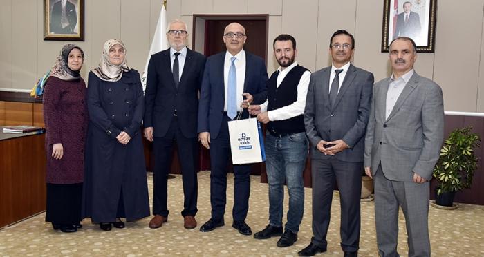 Ensar Vakfı Manisa Şubesi'nden Rektör Ataç'a Hayırlı Olsun Ziyareti