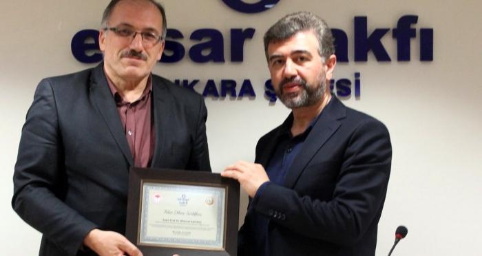 Mehmet Ali KOÇ, Ensar Vakfı Ankara Şubesi'ndeydi