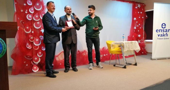 Ensar Vakfı Trabzon Şubesi'nden İman ve Namazla Diriliş Konferansı
