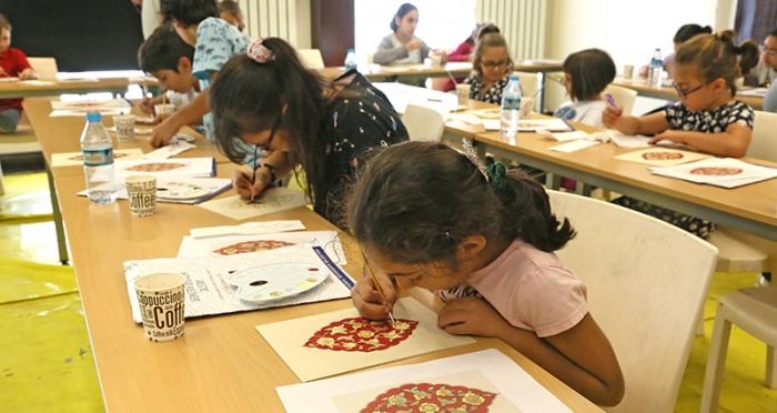 Çocuklarla 5 Gün 5 Tasarım Atölyesi 'Tezhip Atölyesi'