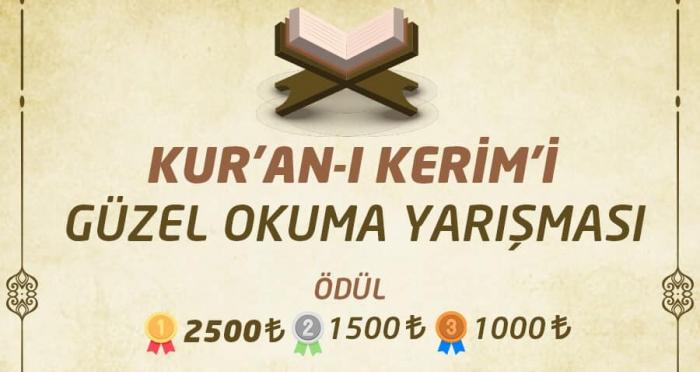 Kur'an-ı Kerim'i Güzel Okuma Yarışması'nda dereceye giren yarışmacılar belli oldu