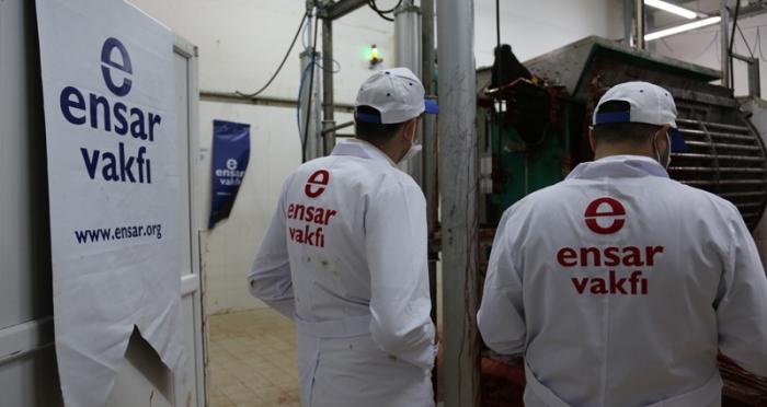 Ensar Vakfı kurban kesim organizasyonu gerçekleştirildi