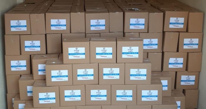 Ensar Vakfı Çaycuma Şubesi İhtiyaç Sahiplerine Kumanya Kolisi Dağıttı