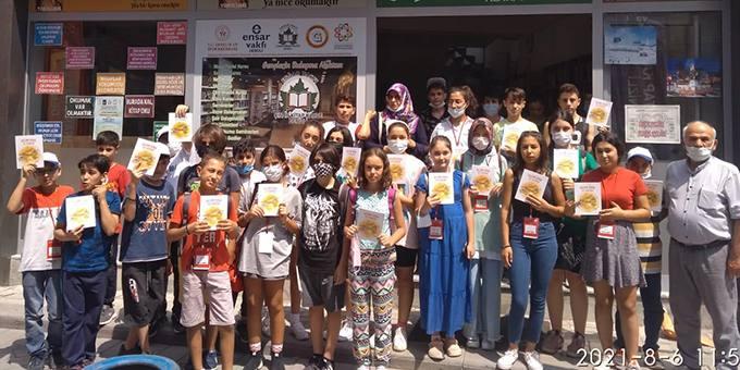Muğlalı Gençlerden Ensar Vakfı Çınar Kitap Kahve'ye Ziyaret