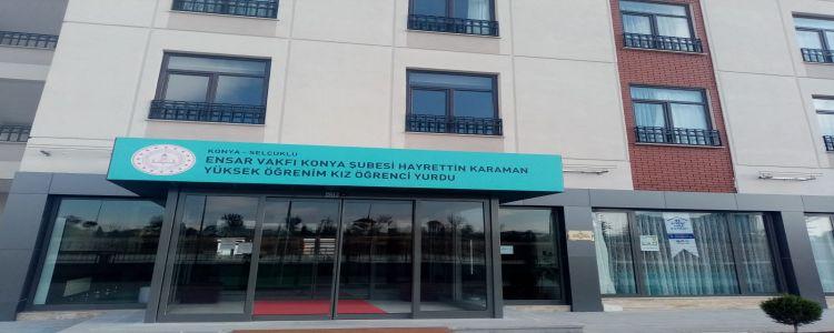 Özel Ensar Vakfı Konya Hayrettin Karaman Yükseköğretim Kız Öğrenci Yurdu
