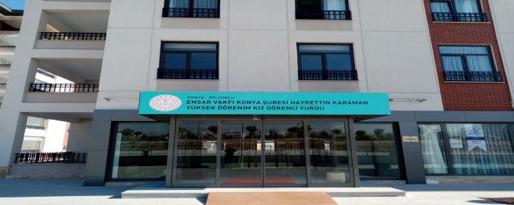 Özel Ensar Vakfı Konya Hayrettin Karaman Yükseköğrenim Kız Öğrenci Yurdu